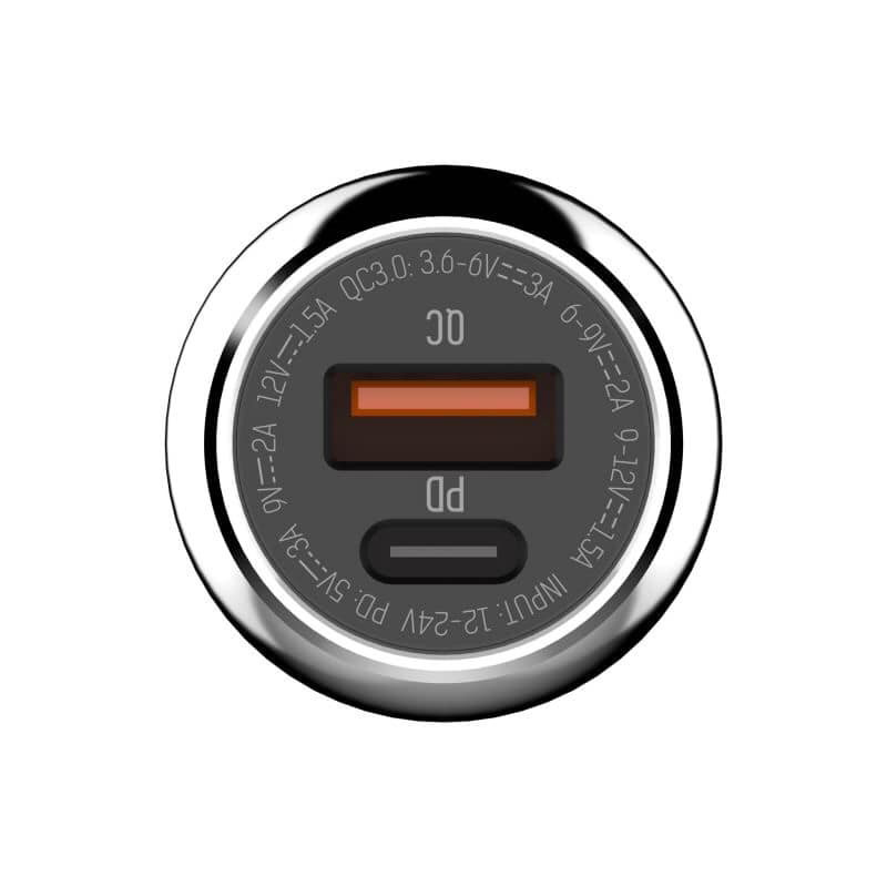 Auto punjač LDNIO C1 PD+QC3.0 3A sa kablom Type C na Type C