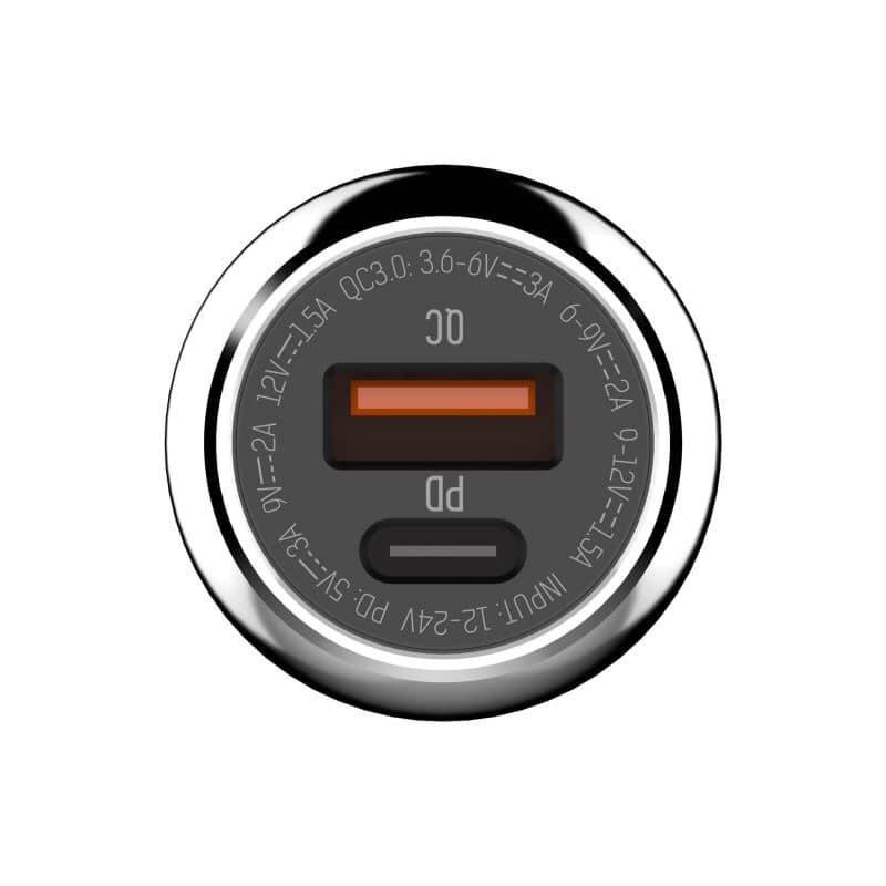 Auto punjač LDNIO C1PD+QC3.0 3A micro USB