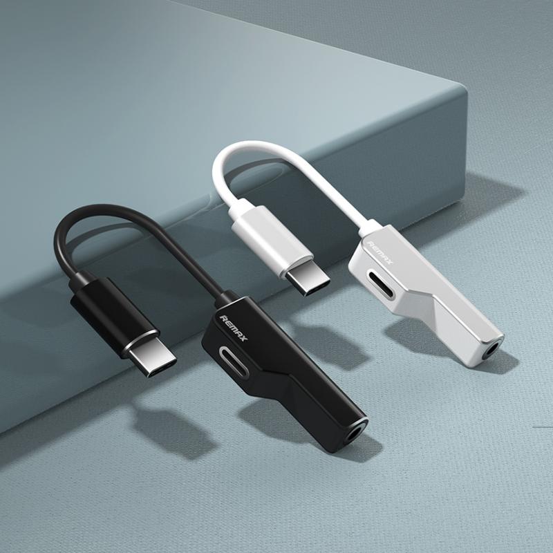Adapter Remax za slušalice I punjenje Type C RL-LA02a beli
