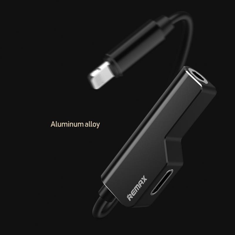Adapter Remax za slušalice I punjenje iPhone RL-LA02i beli