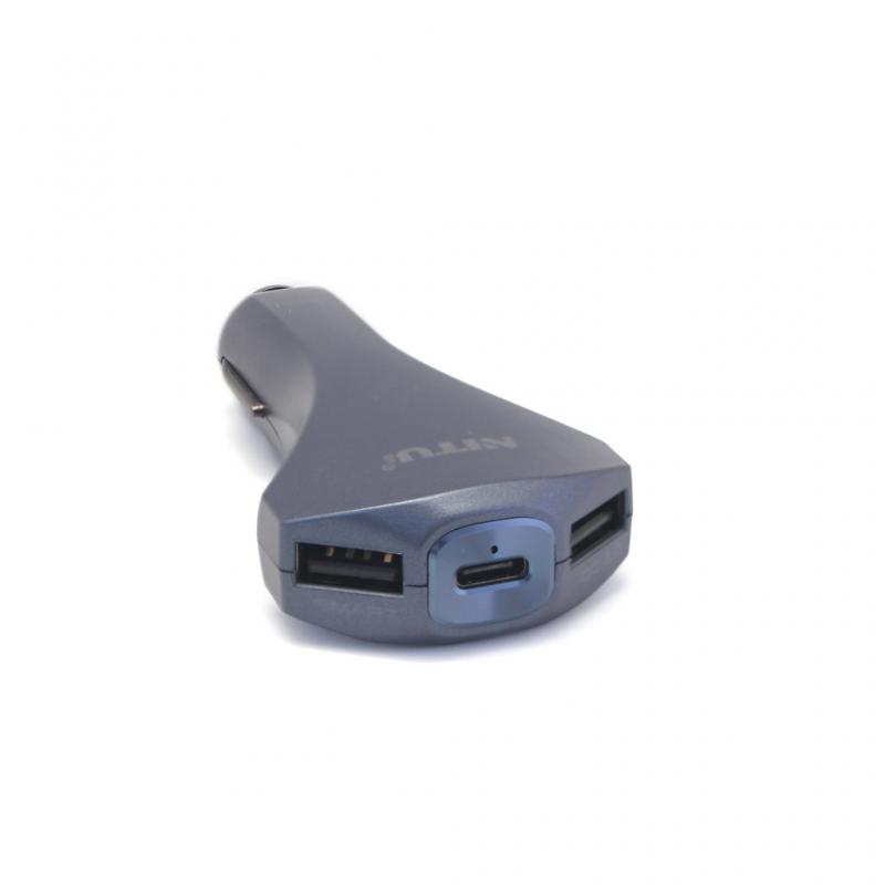 Auto punjač Nitu NT-CC15 QC 3.0 dual USB 5V 3A tamno plavi