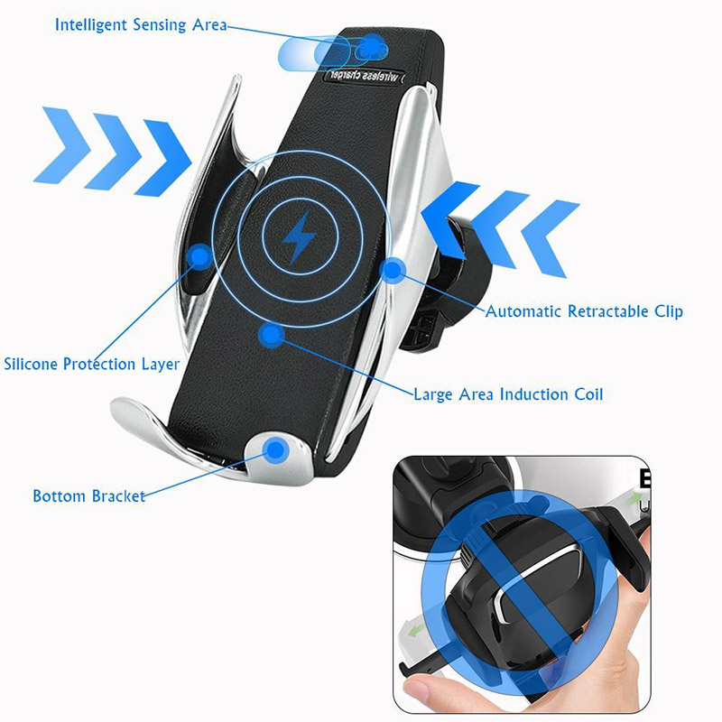Auto držač Wireless S5 sa holderom crni