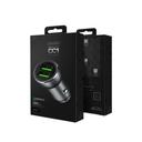 Auto punjač Space Dux CC1 dual USB QC 3.0 3A crni