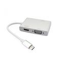 Adapter Type C - HDMI + VGA+DVI+USB 3.0 (4 u 1) Beli
