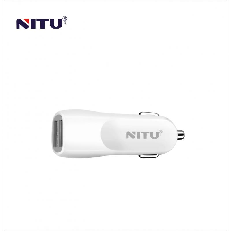 Auto punjač Nitu NT-CC12 USB 5V 2A sa iPhone lightning kablom beli