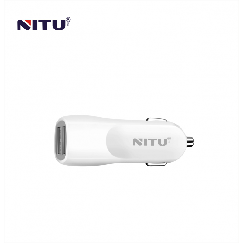 Auto punjač Nitu NT-CC12 USB 5V 2A sa Type C kablom beli
