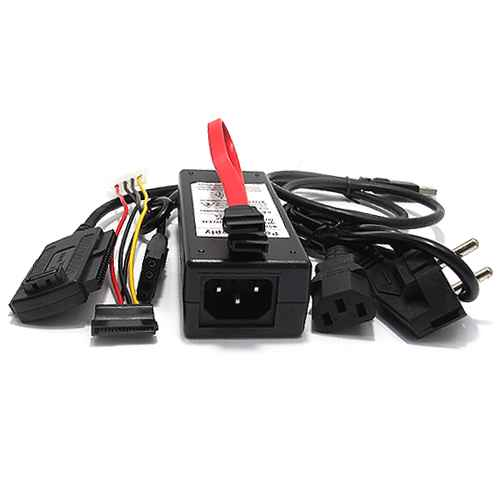 SATA to USB 2.0 adapter DM-HM11 with power supply black