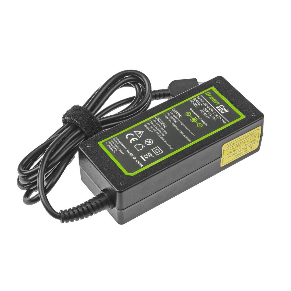 AC adapter Green Cell PRO 20V 3.25A 65W for Lenovo B50 G50 G50-30 G50-45 G50-70 G50-80 G500 G500s G505 G700 G710 Z50-70