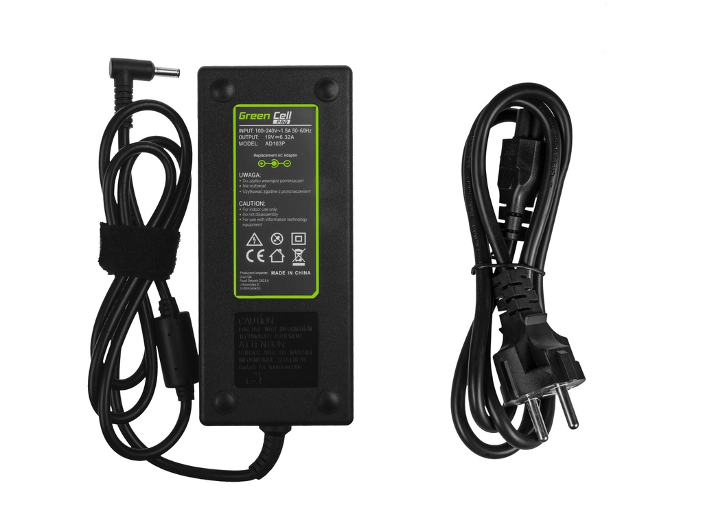 Green Cell PRO Charger  AC Adapter for Asus N501J N501JW Zenbook Pro UX501 UX501J UX501JW UX501V UX501VW 19V 6.32A 120W
