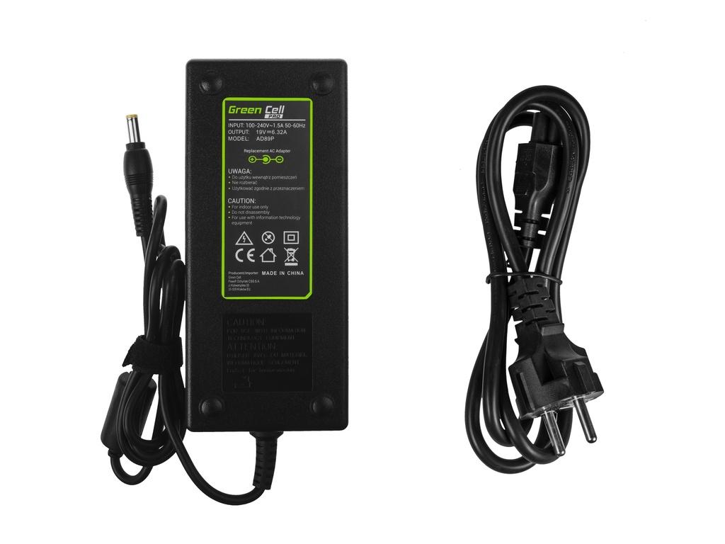 Green Cell PRO Charger  AC Adapter for Acer Aspire 7552G 7745G 7750G V3-771G V3-772G 19V 6.32A 120W
