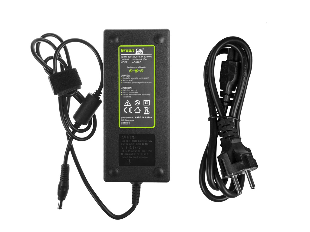 Green Cell PRO Charger  AC Adapter for Lenovo IdeaPad Y510p Y550p Y560 Y570 Y580 Z500 Z570 MSI GE60 GE70 GP 19.5V 6.15A 120W