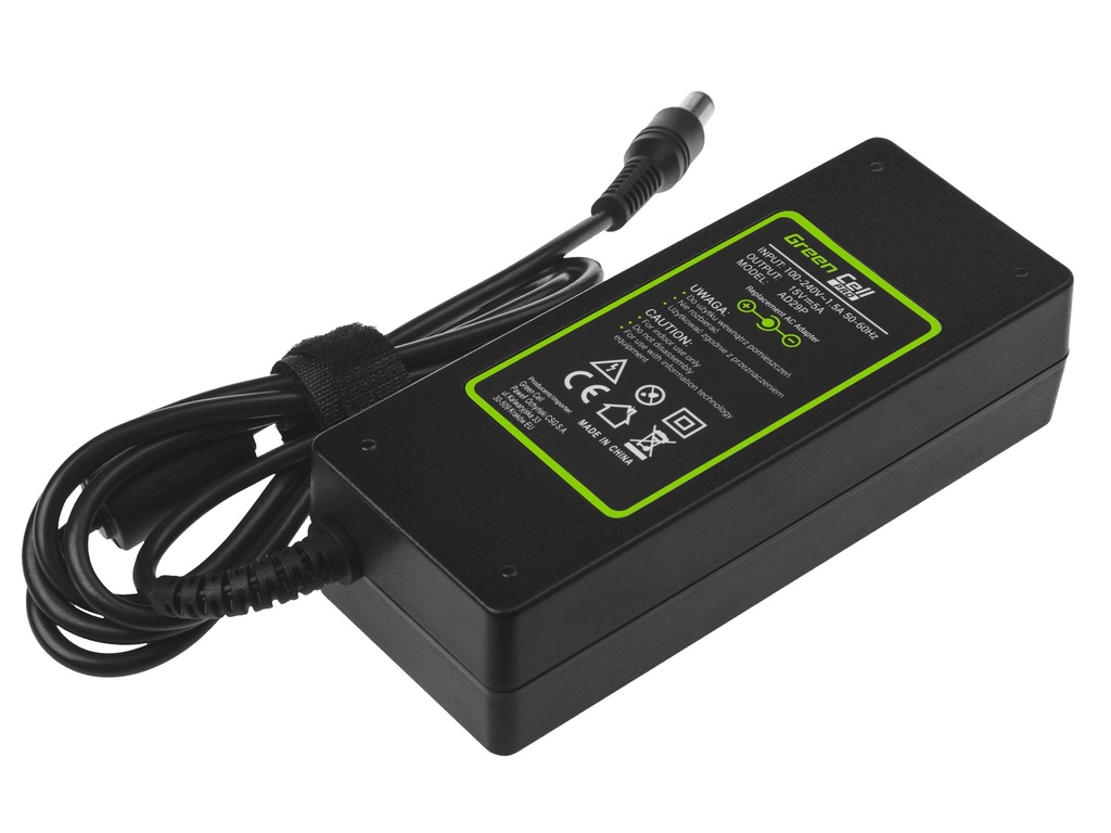Green Cell PRO Charger  AC Adapter for Toshiba Tecra A10 A11 M11 Satellite A100 P100 Pro S500 15V 5A 75W