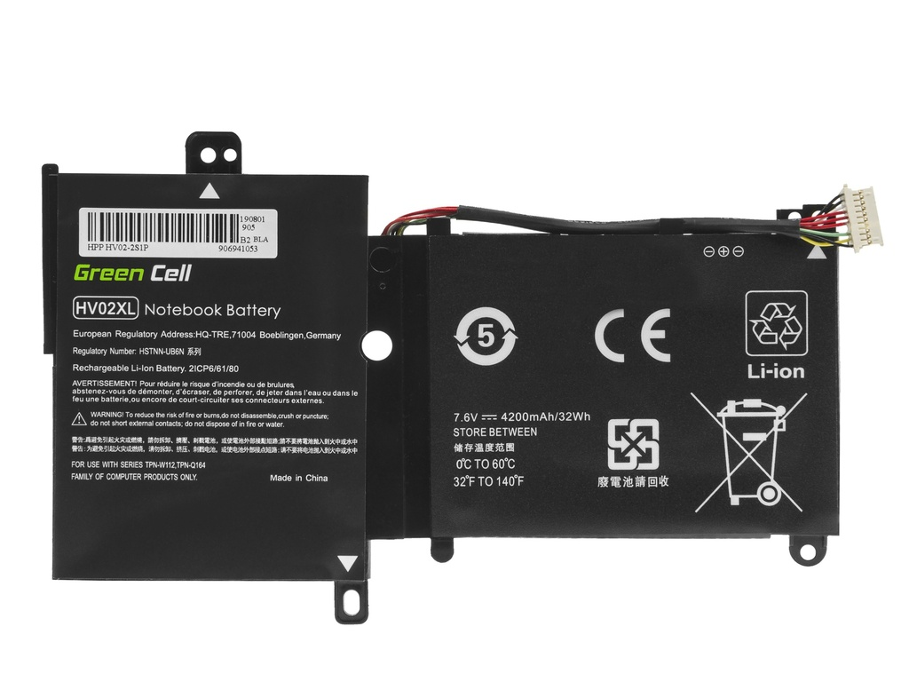 Laptop Battery Green Cell HV02XL for HP Pavilion x360 11-K 11-K002NW 11-K102NW, HP Spectre 13-4000 13-4000NW 13-4100NW