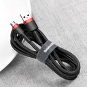 Baseus Cafule Cable Durable Nylon Braided Wire USB / micro USB QC3.0 2.4A 0,5M black-red (CAMKLF-A91)