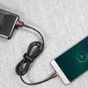 Baseus Cafule Cable Durable Nylon Braided Wire USB / micro USB QC3.0 1.5A 2M black-red (CAMKLF-C91)