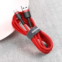 Baseus Cafule Cable Durable Nylon Braided Wire USB / USB-C QC3.0 3A 0,5M red (CATKLF-A09)
