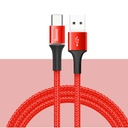 Baseus Halo Data Cable Durable Nylon Braided Wire USB / USB-C with LED Light 3A 0,5M red (CATGH-A09)