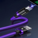 Baseus Purple Gold Red USB / USB-C Cable with Nylon Braid SuperCharge 40W Quick Charge 3.0 QC3.0 1M red (CATZH-A09)