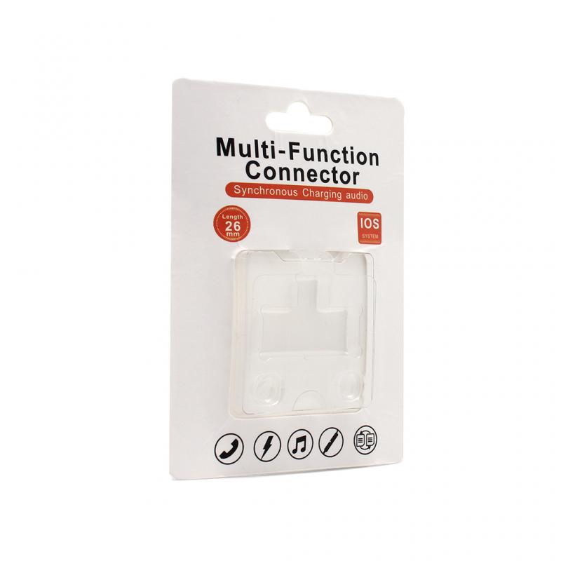Adapter za slušalice i punjenje iPhone X crni