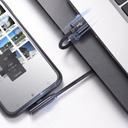 Baseus Rhythm Bent - Elbow Cable USB / Lightning with Audio adapter Connector 2.4A 1.2m Black (CALLD-A01)