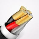 Baseus Cafule HW Quick Charging Data cable USB Double-sided Blind Interpolation For Type-C 40W 1m Gold+Blue (CATKLF-PV3)