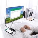 Baseus Multi-function HUB Type-C to Seven-port USB3.0*3+4K/HD+SD+TF+PD for MacBook / PC Dark Grey (CAHUB-CZ0G)