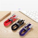 Baseus Mobile Game Elbow Cable USB Lightning with Nylon Braid 1.5A 2m red (CAL7C-B09)