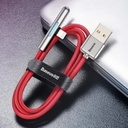 Baseus Mobile Game Elbow Cable USB Lightning with Nylon Braid 1.5A 2m black (CAL7C-B01)