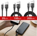 Baseus Rapid Cable Durable Nylon Braided Wire USB Type C with LED Light 2A 1m black (CATSU-B01)