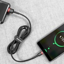 Baseus Cafule Cable Durable Nylon Braided Wire USB / USB-C QC3.0 2A 3M black-red (CATKLF-U91)