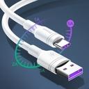 Baseus durable cable USB / USB cable Type C QC3.0 5A 1m white (CATSH-B02)