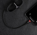 Baseus Cafule Cable Durable Nylon Braided Wire USB Type C PD / Lightning 18W QC3.0 1m black-red (CATLKLF-91)