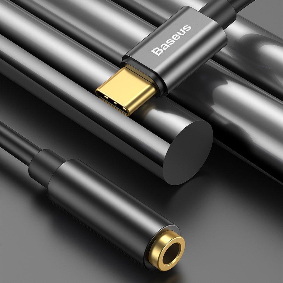 Baseus L54 USB-C to 3.5 mm Female Adapter DAC 24 bit 48 KHz black (CATL54-01)