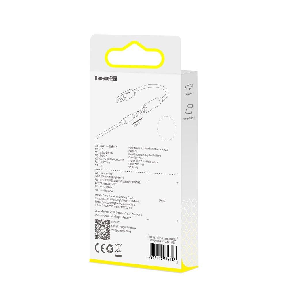 Baseus Audio Converter L3 Adapter from Lightning headphones mini jack 3,5 mm black (CALL3-01)