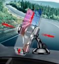 Baseus Osculum Gravity Car Mount Dashboard Windshield Phone Bracket Holder silver (SUYL-XP0S)