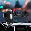 Baseus Smart Vehicle Bracket Wireless Charger Electric Auto Lock Car Mount Phone Bracket Dashboard Holder Qi Charger with Infrared Sensor black (WXZN-B01)