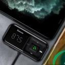 Baseus S-16 FM Transmitter Bluetooth 5.0 2x USB car charger AUX MP3 TF micro SD 3,1 A black (CCTM-E01)