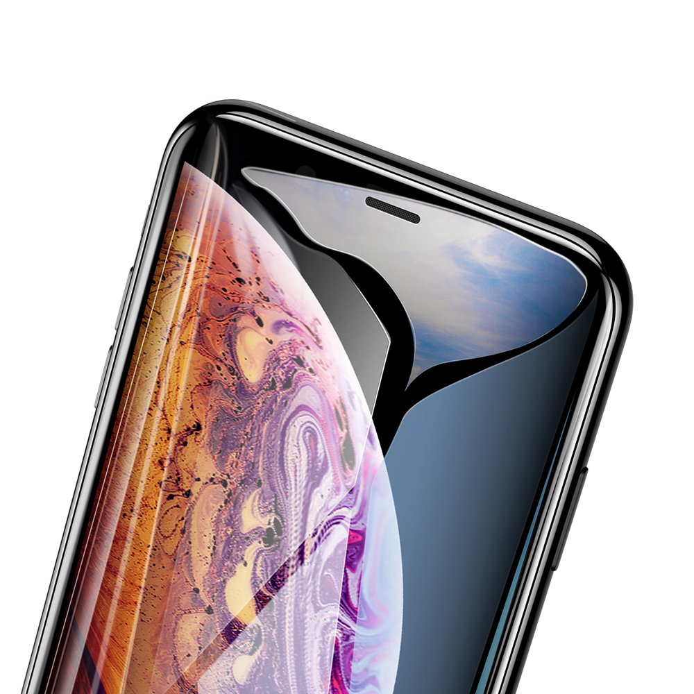 Baseus Full Coverage 3D Tempered Glass Screen Protector for iPhone 11 Pro Max / iPhone XS Max black (SGAPIPH65-KC01)