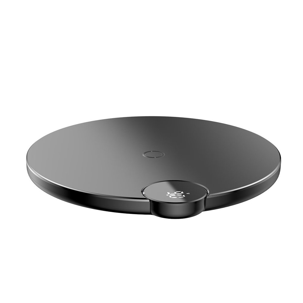 Baseus Digital LED Display Wireless Charger Desktop Qi Charger with Voltage/Power Display (WXSX-01) black