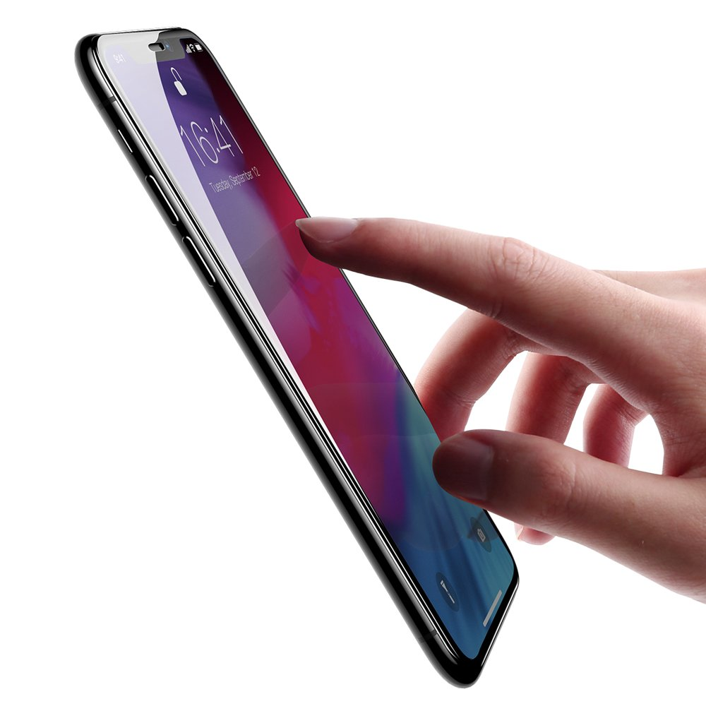 Baseus PET Soft 3D Tempered Glass Film Full Screen Protector with PET Rim for Apple iPhone 11 Pro Max / iPhone XS Max 0,23 mm black (SGAPIPH65-PE01)