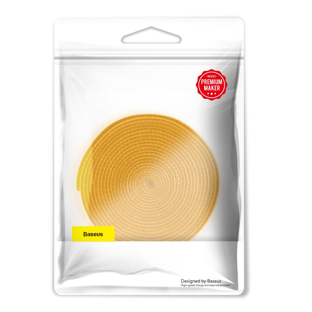 Baseus Rainbow Circle Velcro Straps to organizing cables 3m Yellow (ACMGT-F0Y)