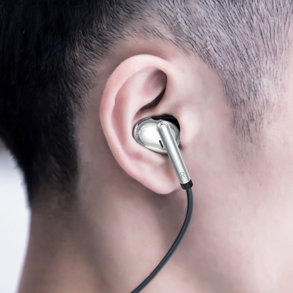 Baseus Encok S30 in ear wireless headphones Bluetooth 5.0 headset with remote control silver (NGS30-0S)