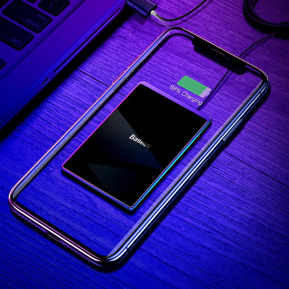 Baseus Ultra-thin Wireless Charger Qi Inductive Pad 15W with USB Cable 100cm black (WX01B-01)