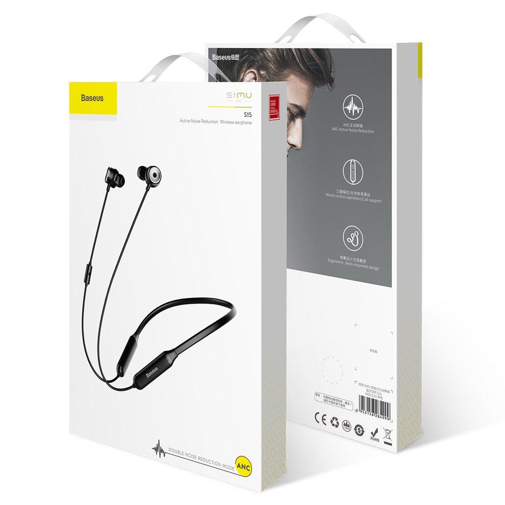Baseus SIMU S15 Bluetooth 4.2 Headphones ANC (Active Noise Control) black (NGS15-01)