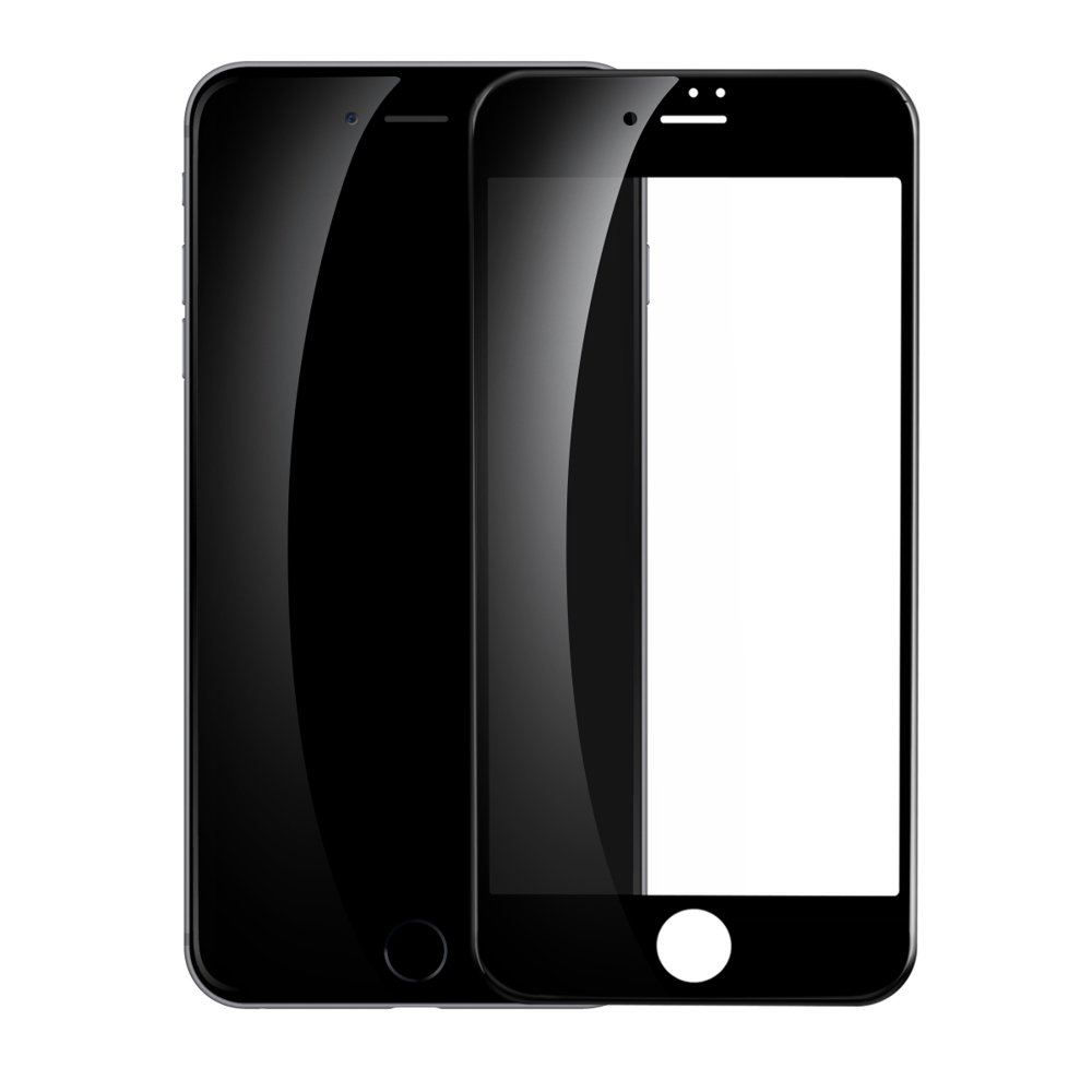 Baseus 0.23mm curved-screen tempered glass screen protector with crack-resistant edges For iPhone SE 2020 / iPhone 8 / iPhone 7 black (SGAPIPH8N-GPE01)