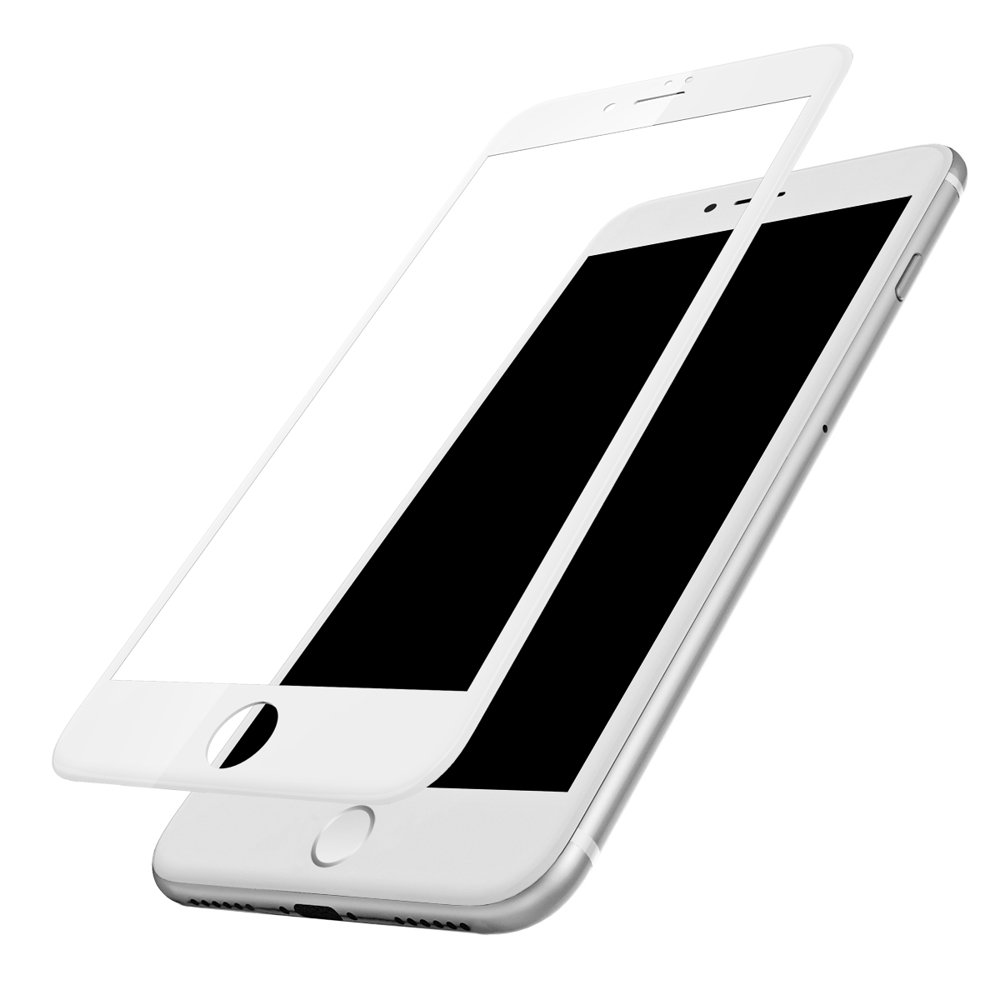 Baseus 0.23mm curved-screen tempered glass screen protector with crack-resistant edges For iPhone SE 2020 / iPhone 8 / iPhone 7 white (SGAPIPH8N-GPE02)