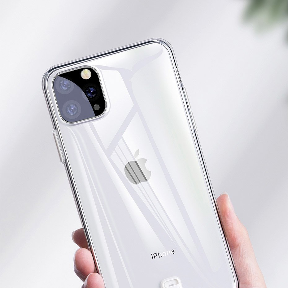 Baseus Ultra-Thin Cover Gel TPU Case with Lanyard Holder for iPhone 11 Pro Max transparent (WIAPIPH65S-QA02)