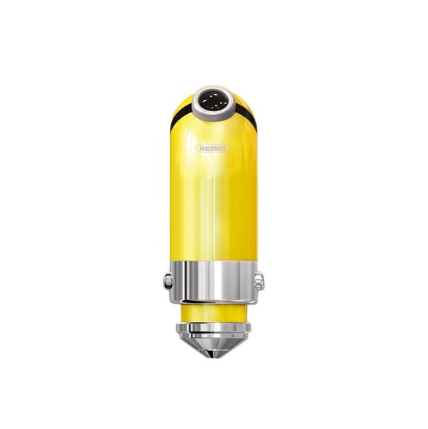 Auto punjac REMAX Cutie RCC-211 USB 2.4A sa iPhone lightning/Micro USB/Type C kablom zuti