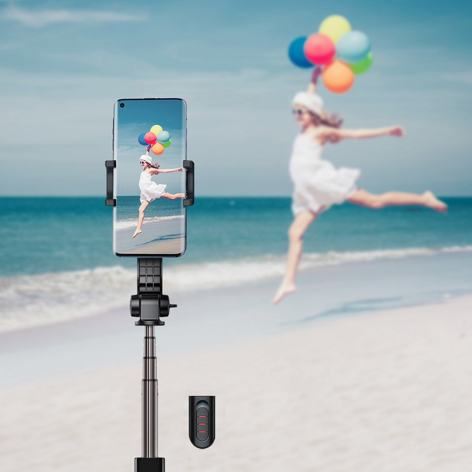 Baseus uniaxial gimbal Selfie Stick with Tripod Telescopic Stand and Bluetooth remote controll black (SULH-01)