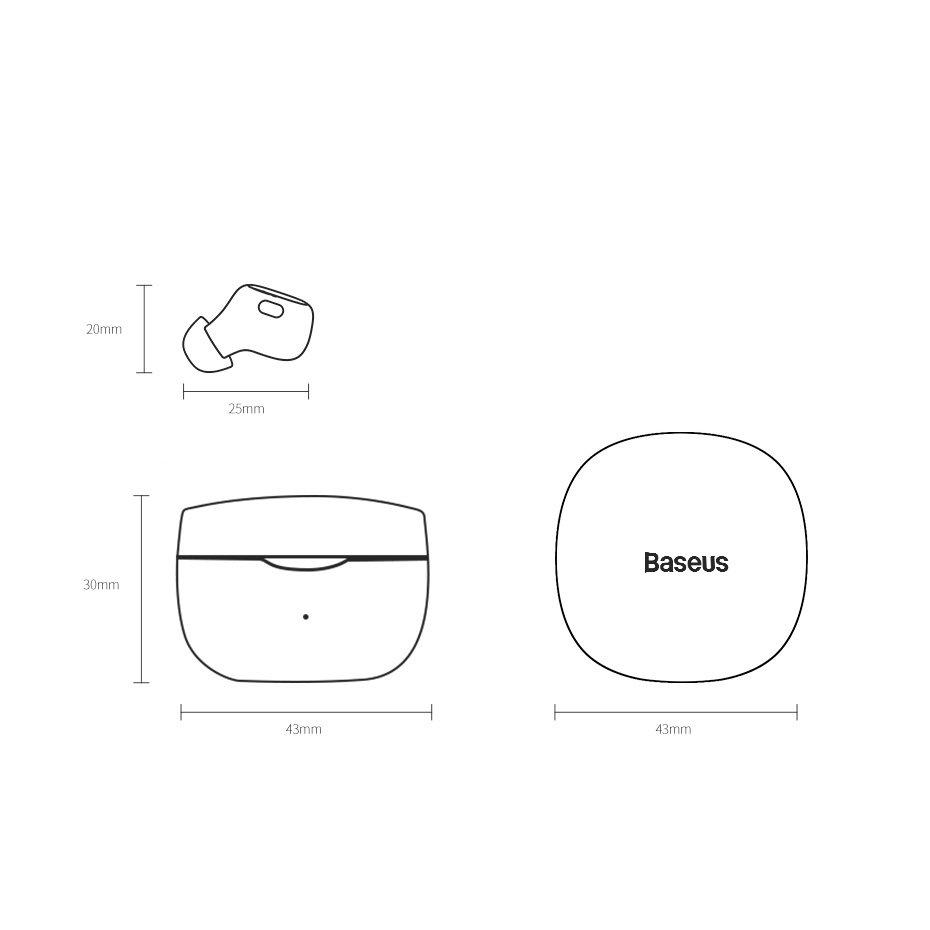Baseus Encok WM01 True Wireless Earphones TWS Bluetooth 5.0 black (NGWM01-01)